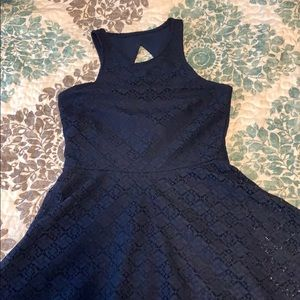 Aeropostale navy lace XS skater dress